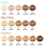 Organic cream mineral foundation - plain jane beauty - 17 swatches