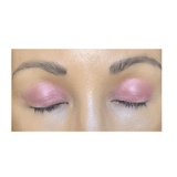 pink-hued eye shadow on eye lids - hibiscus #39