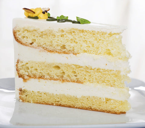 Three layer Vanilla Cake with Vanilla Frosting
