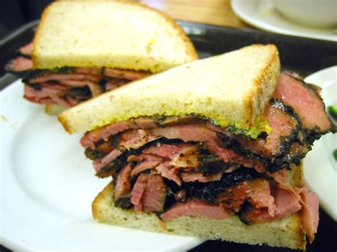 Hot Pastrami Sandwich on Rye