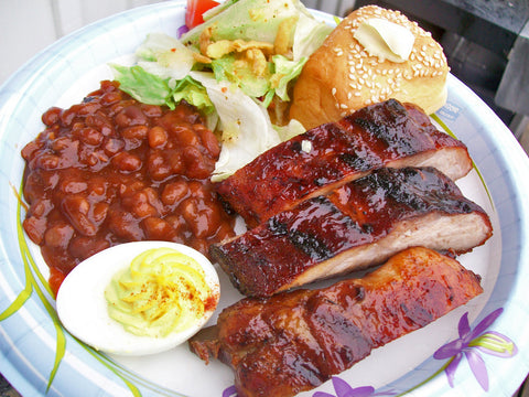 Half Rack of Barbecue Beef Ribs