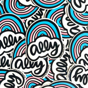 LGBTQ Trans Ally Rainbow Sticker