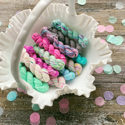 Pixie Dust Mini Skein Set - Fingering Weight - Ready to Ship