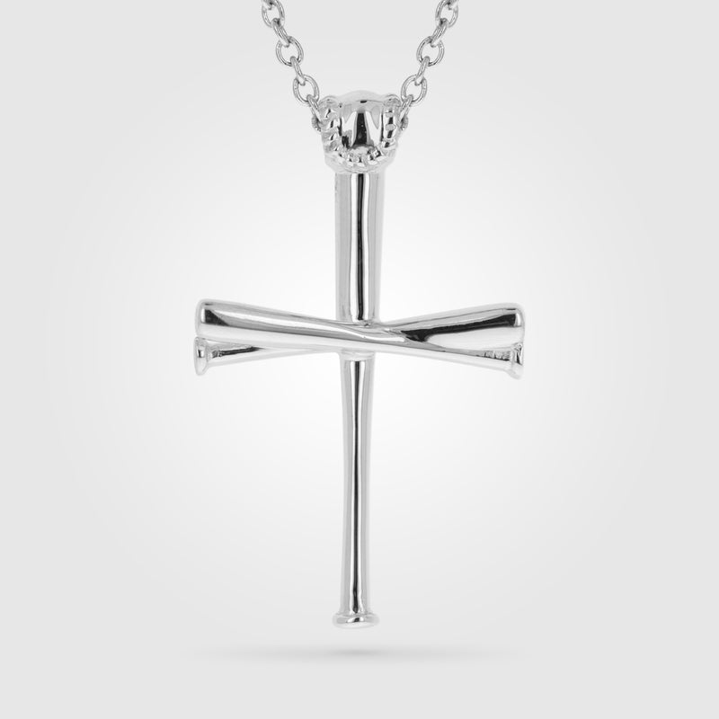 2.0 FiveTool Baseball Bat Cross Necklace