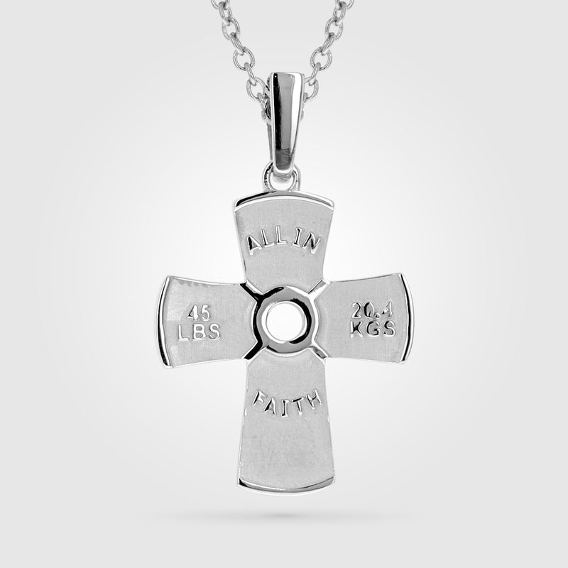 Weight Plate Cross Necklace