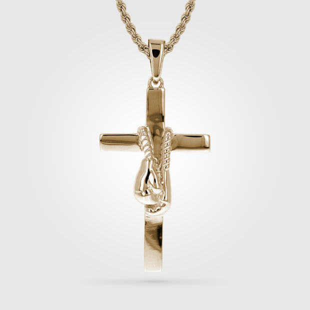 Gold Anchor Punch Boxing Cross