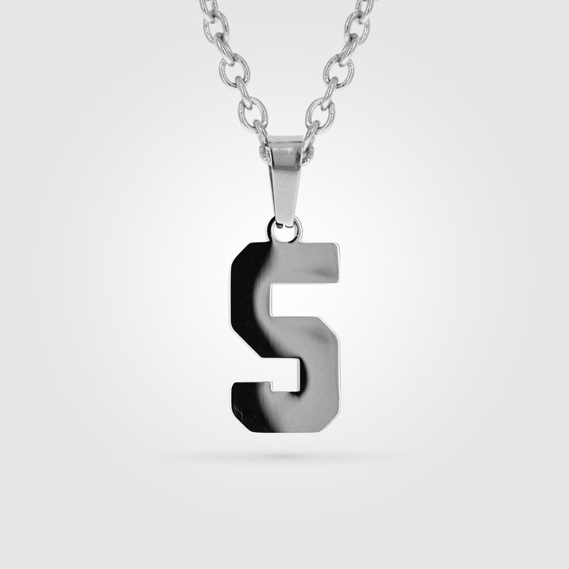 Custom Number Necklace Stainless Steel