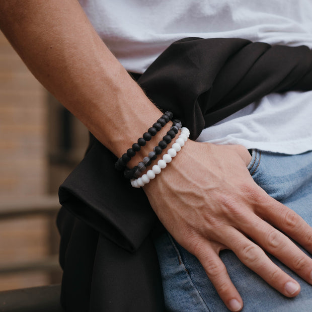 Baseball Power Bracelet Black and Grey