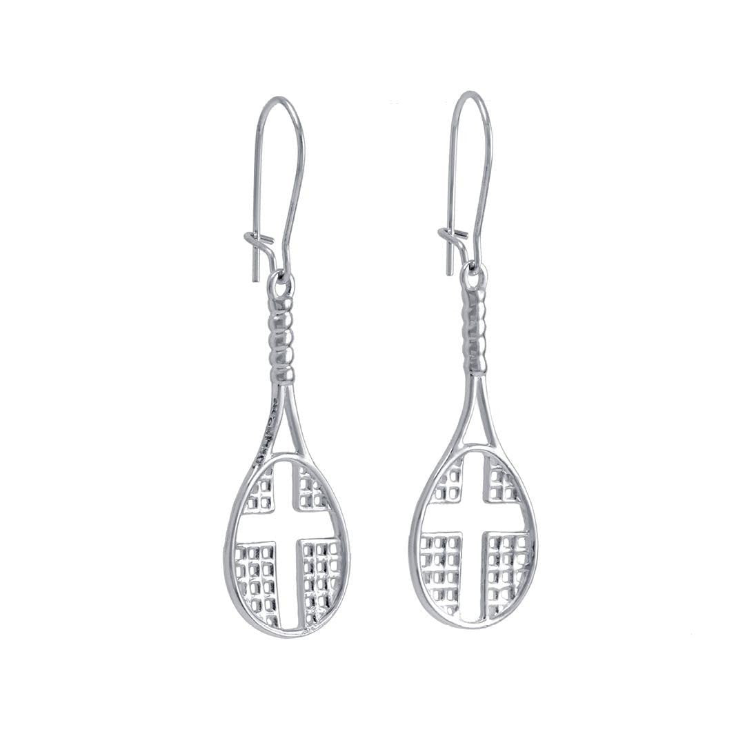Tennis Racket Dangle Earrings