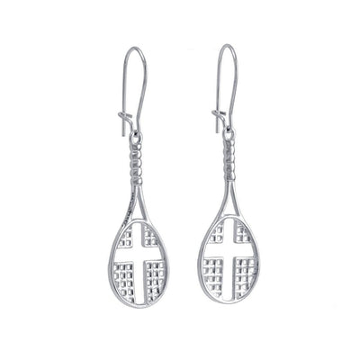 Tennis Racket Dangle Earrings - All In Faith