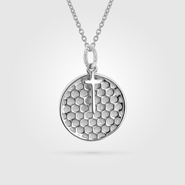 Women's Golf Necklace With Dangle Cross