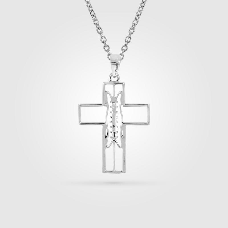 Women's Gridiron Football Cross Necklace
