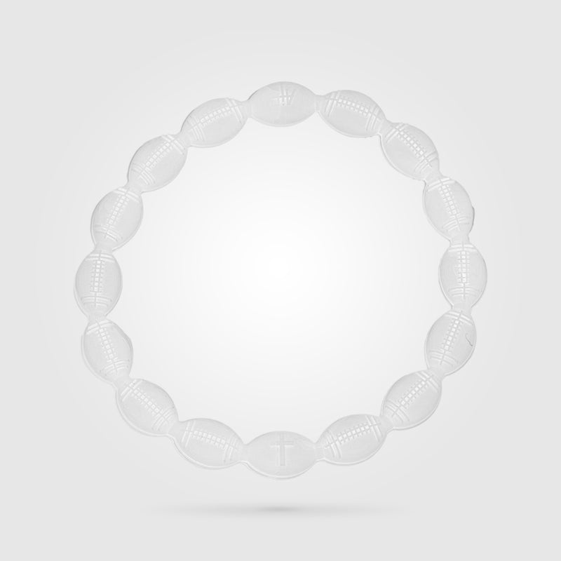 Football Power Bracelet Solid White