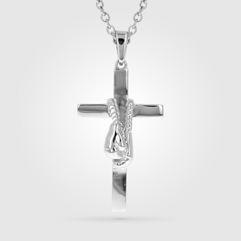 Anchor Punch Boxing Cross Necklace