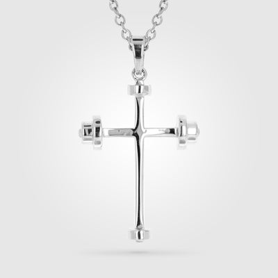 ATHLETE'S LARGE CROSS NECKLACE