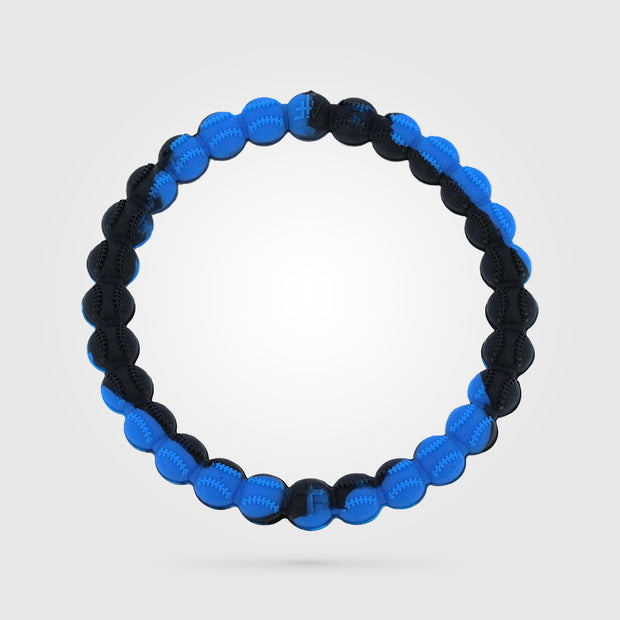 Baseball Power Bracelet Blue and Black