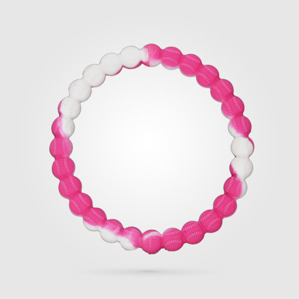 Baseball Power Bracelet Pink And White
