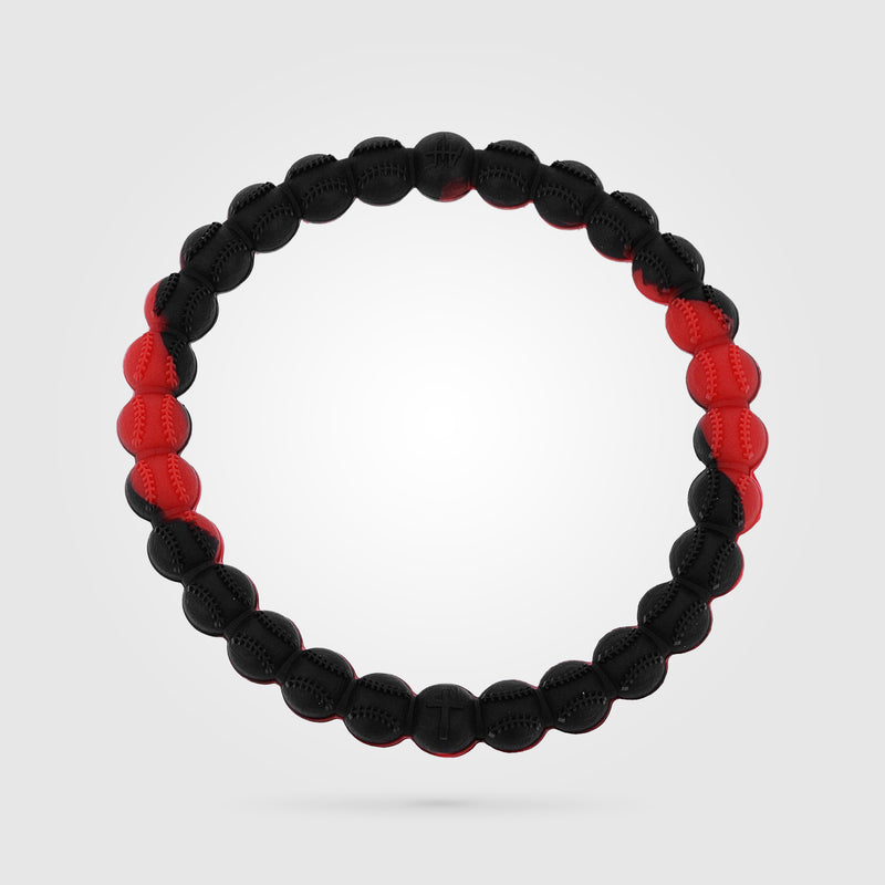 Baseball Power Bracelet Red And Black