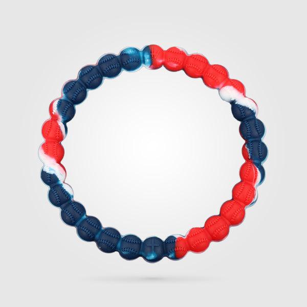 Baseball Power Bracelet Red, White, And Blue