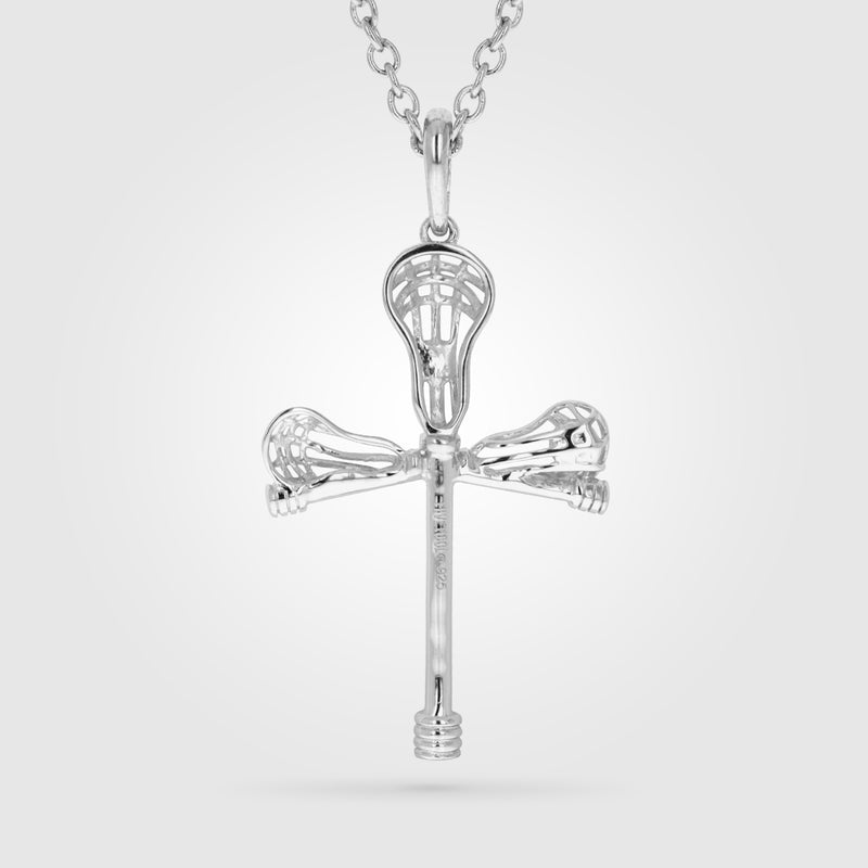 Cross Check Lacrosse Necklace