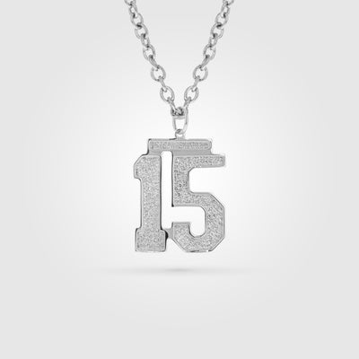 Silver Number Pendant