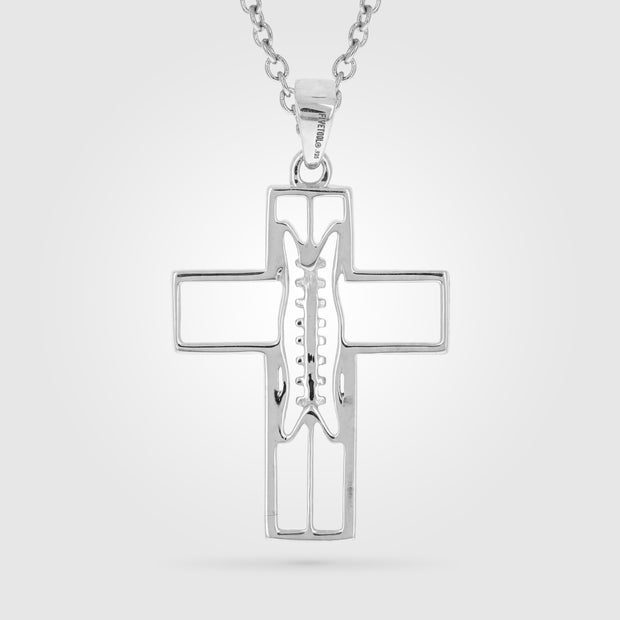 XL Gridiron Football Cross Pendant