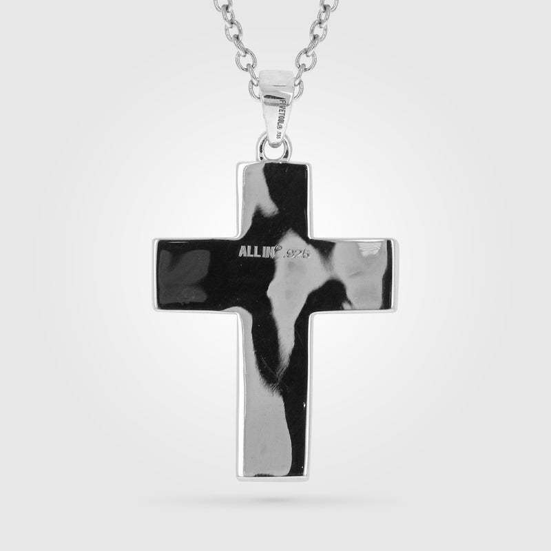 Extra Large Pigskin Football Cross Necklace