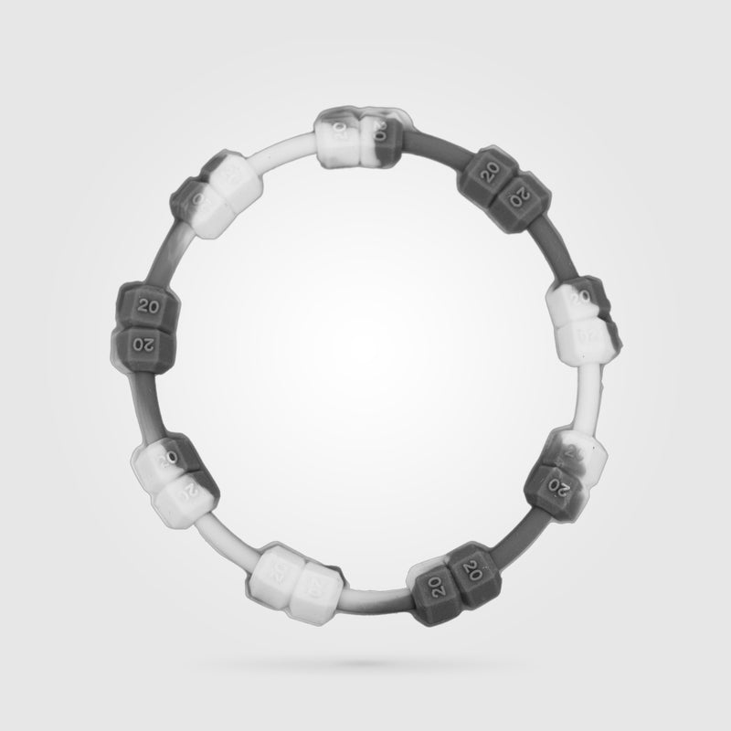 Fitness Power Bracelet Grey And White