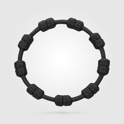 FITNESS POWER BRACELET SOLID BLACK