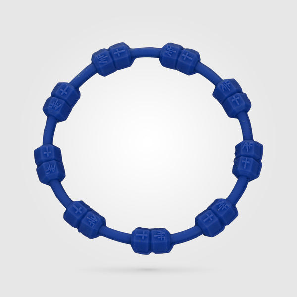 Fitness Power Bracelet Solid Blue