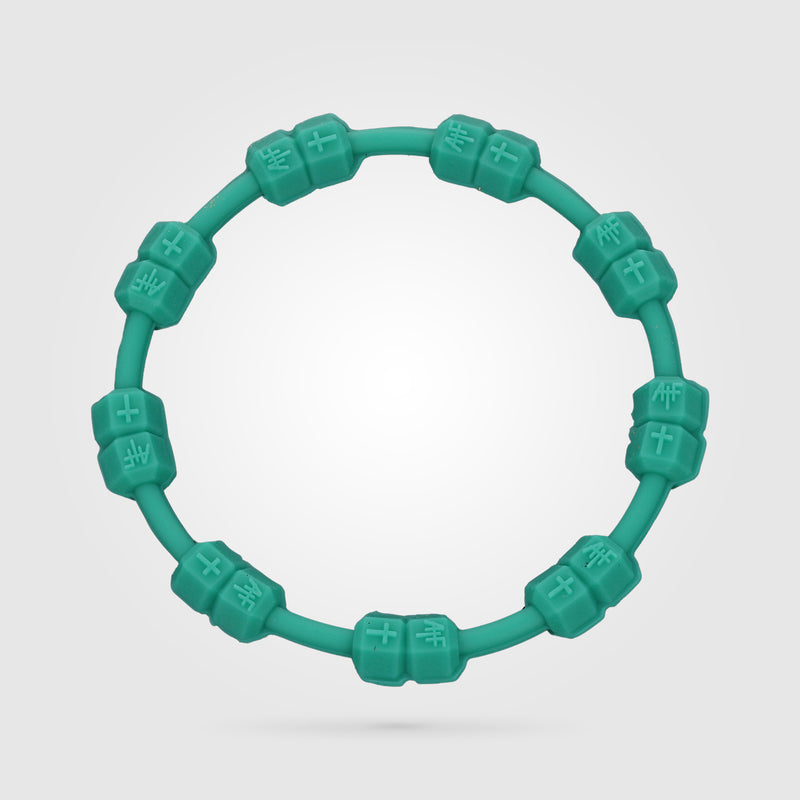 Fitness Power Bracelet Solid Turquoise