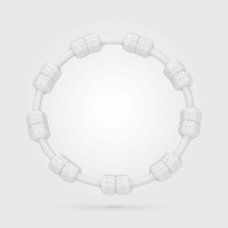 Fitness Power Bracelet Solid White