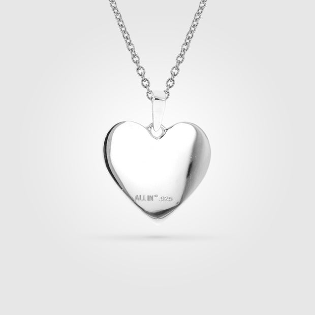 Baseball Heart Mom FiveTool Pendant