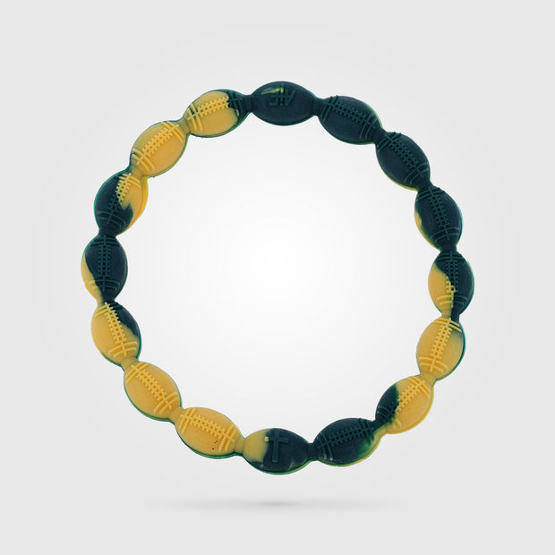 Football Power Bracelet Green and Gold