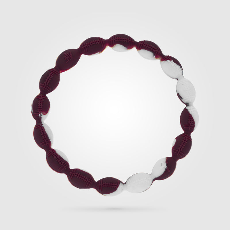 Football Power Bracelet Maroon And White