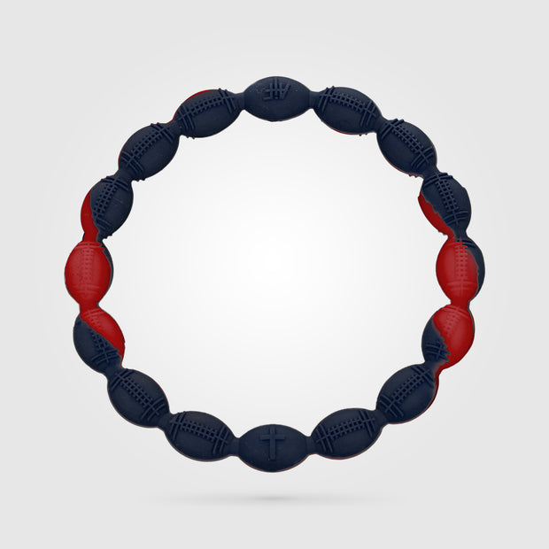 Football Power Bracelet Navy and Red