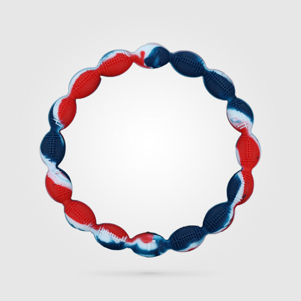 Football Power Bracelet Red, White, And Blue