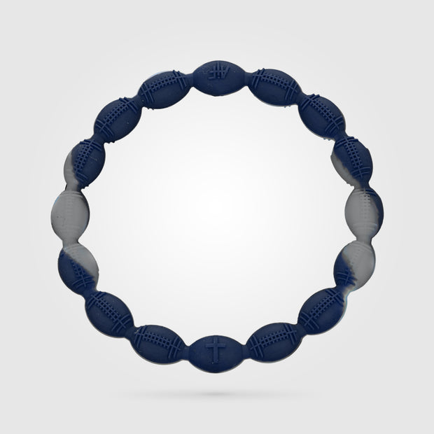 Football Power Bracelet Silver and Blue