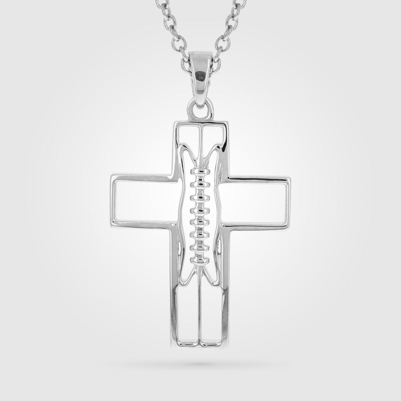 Gridiron Football Cross Necklace