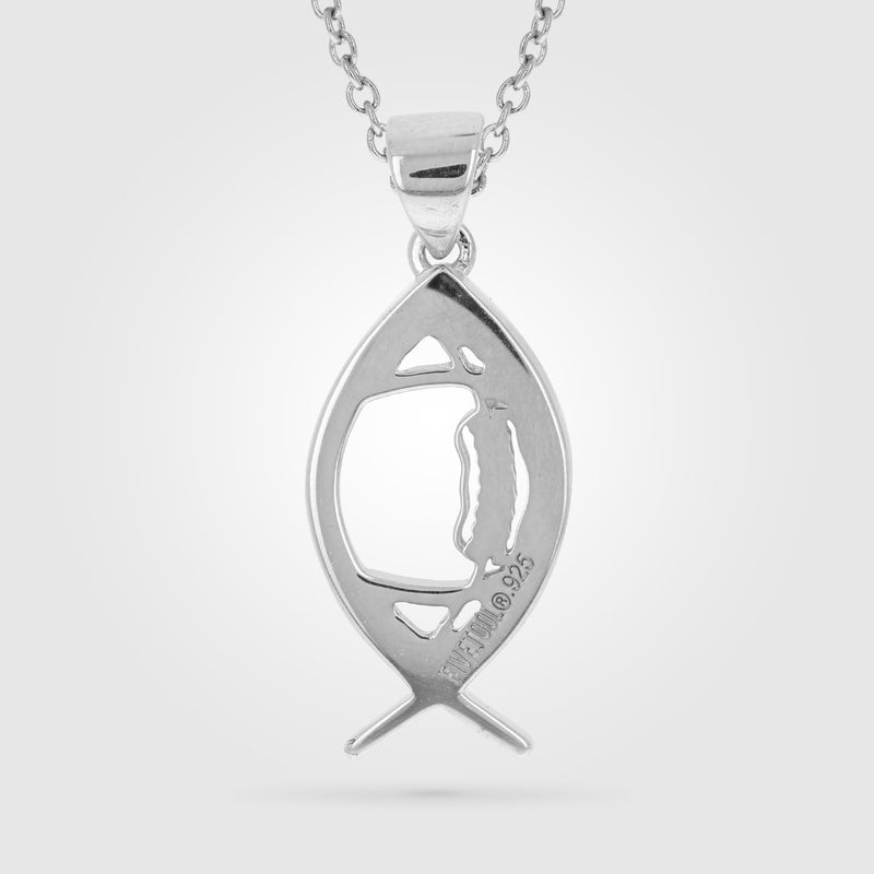 Ichthys Football Necklace