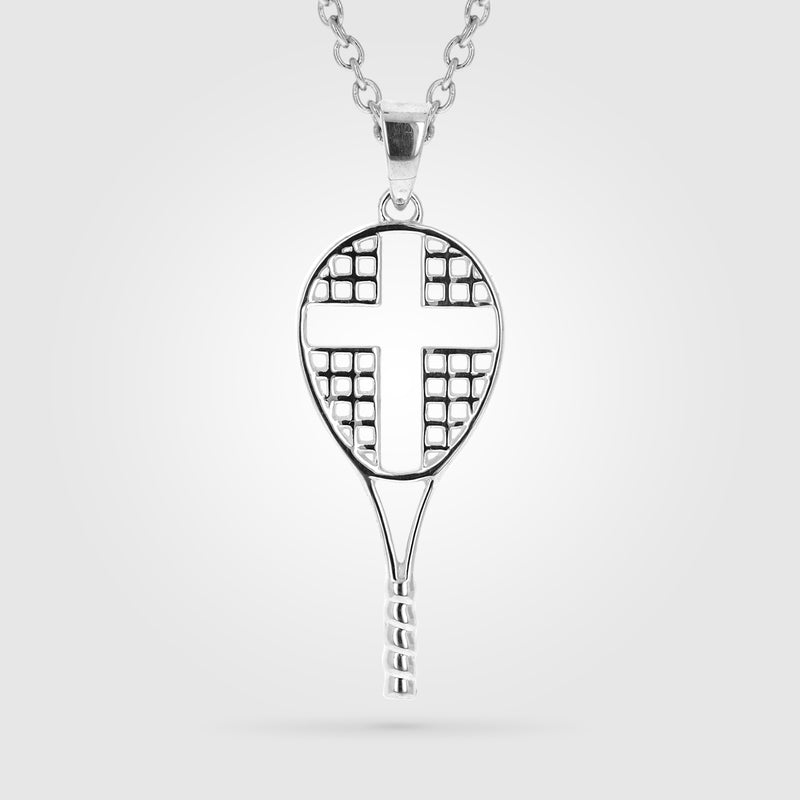 Love All Tennis Cross Necklace