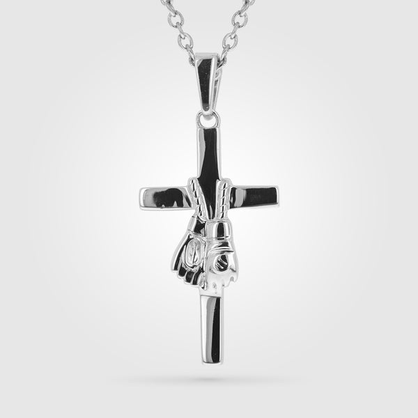 MMA Glove Cross Necklace