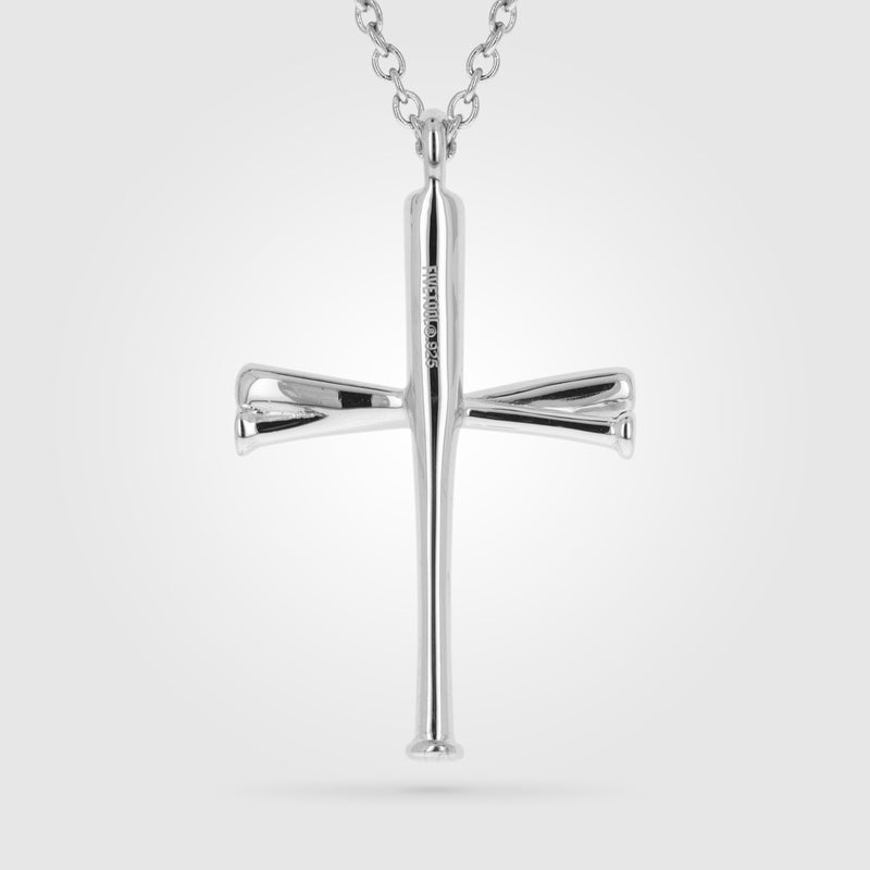Original Baseball Bat Cross Necklace
