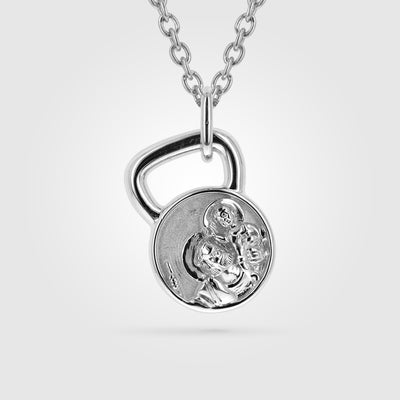 St. Christopher Kettlebell Pendant Necklace