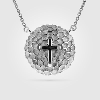 Mini Golf Ball Cross Necklace Pendant