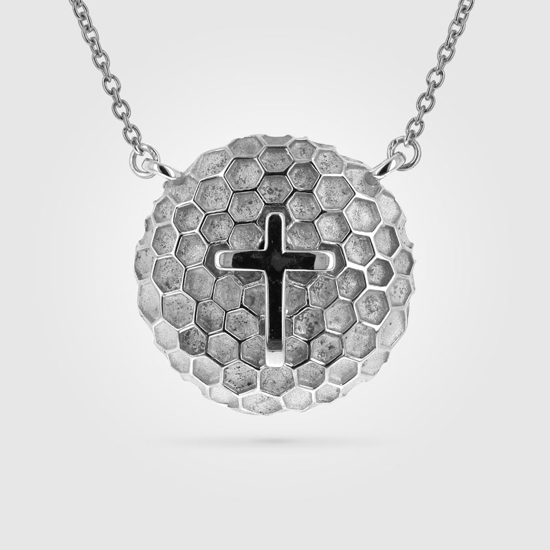 Women's Golf Ball Cross Necklace