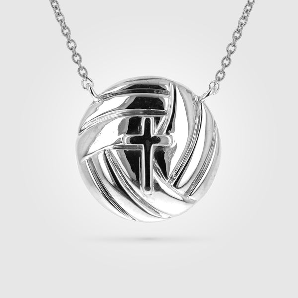 Women's Volleyball Cross Necklace