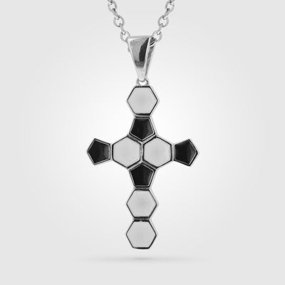 Soccer Ball Cross Pendant