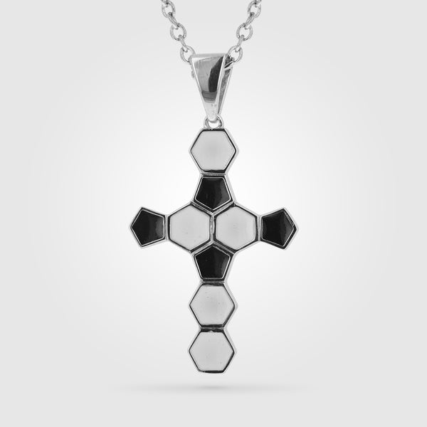 Soccer Ball Cross Necklace