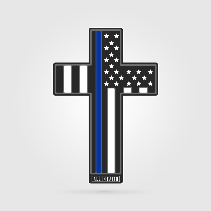 Thin Blue Line LEO Cross Decal
